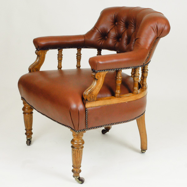 Remarkable Antique Oak Library Chair Sn663 Dailytribune Chair Design For Home Dailytribuneorg