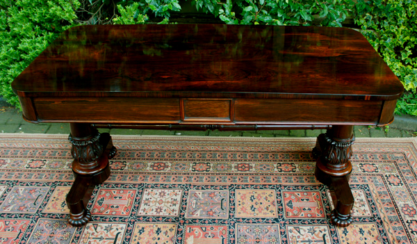 Antique Rosewood Writing Table by M Wilson of London - Antique Rosewood Writing Table By M Wilson Of London SN627