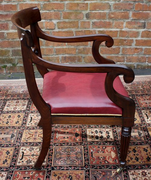 Super Antique Georgian Mahogany Desk Chair Sn658 Machost Co Dining Chair Design Ideas Machostcouk