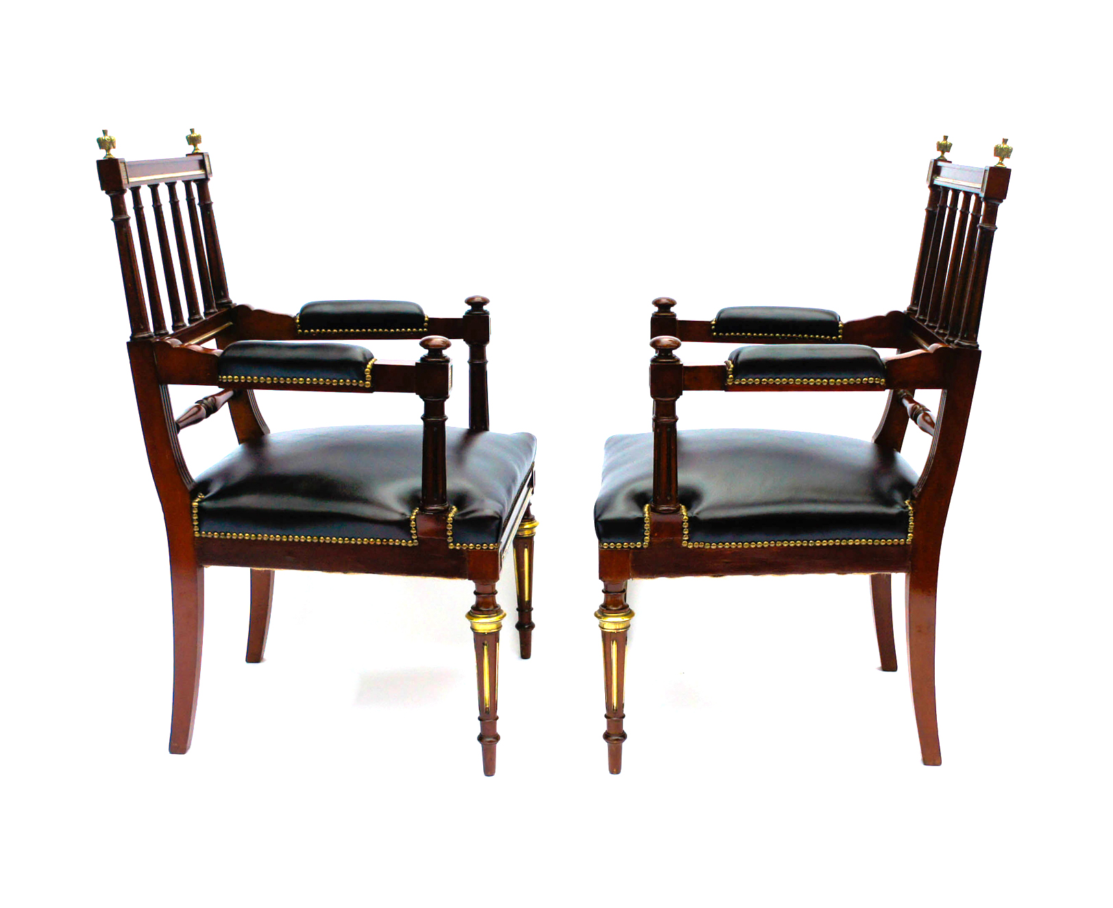 Awesome Antique French Empire Armchairs Or Desk Chairs Sn728 Ncnpc Chair Design For Home Ncnpcorg