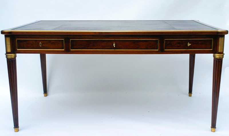 Antique French Empire Style Writing Desk - Antique French Writing Desk By Krieger
