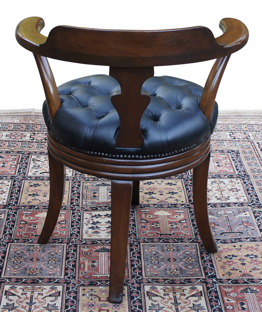 leather chair antique product victorian circa mahogany desk english