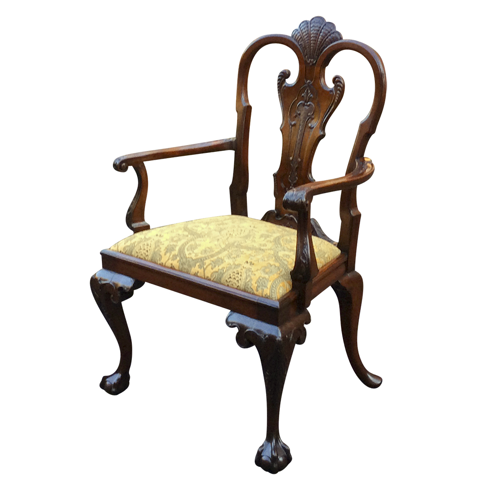 Astounding Large Antique Carved Mahogany Armchair Or Desk Chair Sn758 Ibusinesslaw Wood Chair Design Ideas Ibusinesslaworg