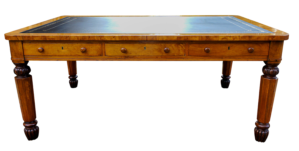 Superior Antique Partners Library Table Or Desk