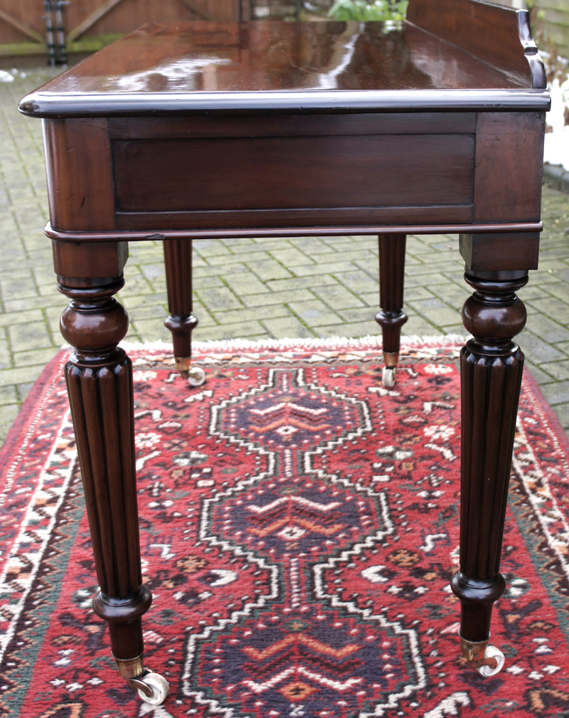 Antique Mahogany Side Table. 4/6 - Antique Mahogany Side Table Or Writing Table SN582