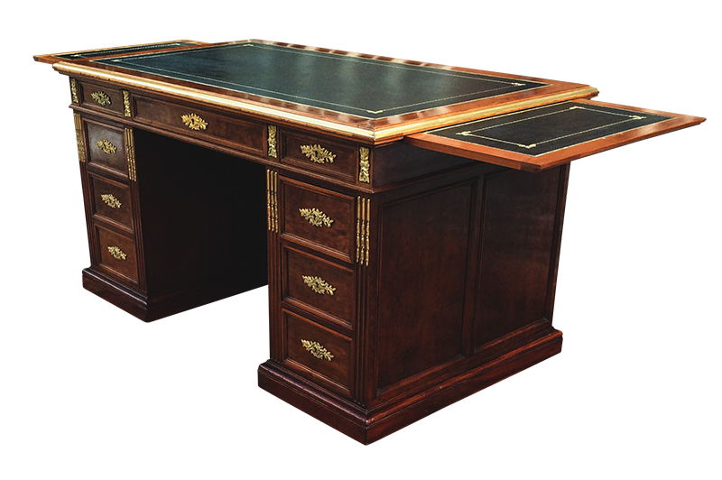 Antique French Mahogany Desk with Ormolu Mounts