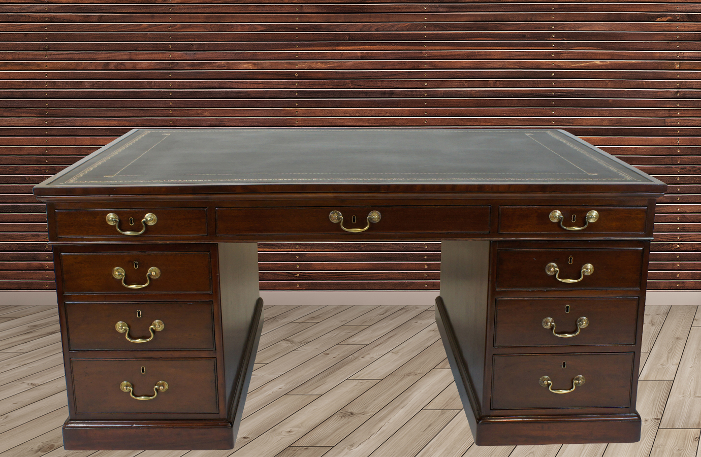 Antique Mahogany Partners Desk - Our Sold Antique Desks, Library Desks, Partners Desks And Antique