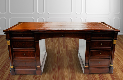 Antique French Mahogany Desk
