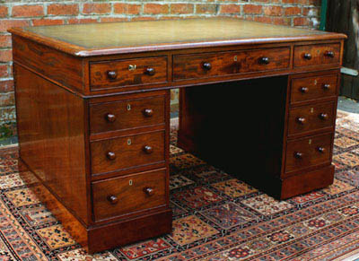 Antique Mahogany Georgian Partners Desk