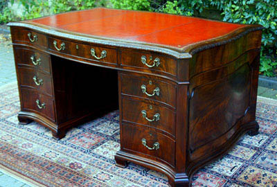 Antique Chippendale Style Partners Desk