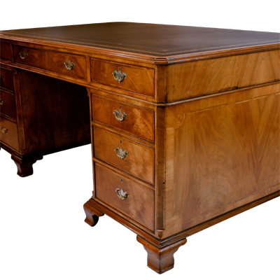 Antique Walnut Partners Desk