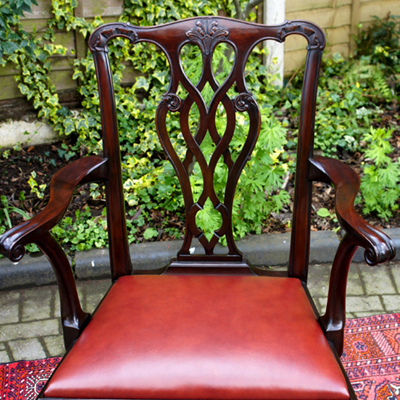 Antique Chippendale Style Desk Chair