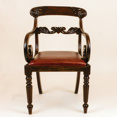 Antique William 1v Mahogany Desk Chair