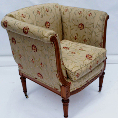 Antique Carved Satinwood Armchair - Antique Desk Chairs And Antique Library Chairs Beautifully