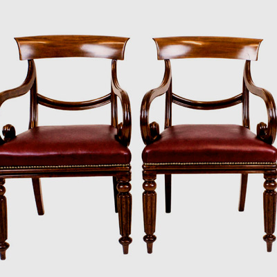 Pair Antique Desk Chairs