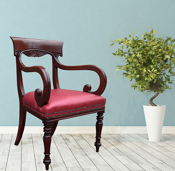 Antique William 1V Mahogany Desk Chair - Antique Desk Chairs And Antique Library Chairs Beautifully Restored