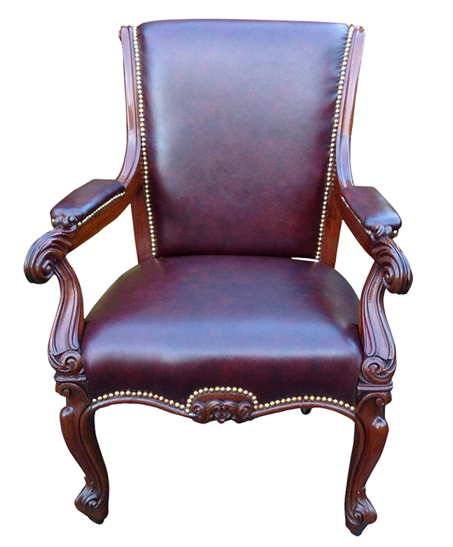 Large Antique Mahogany Desk Chair or Library Chair - Antique Desk Chairs And Antique Library Chairs Beautifully