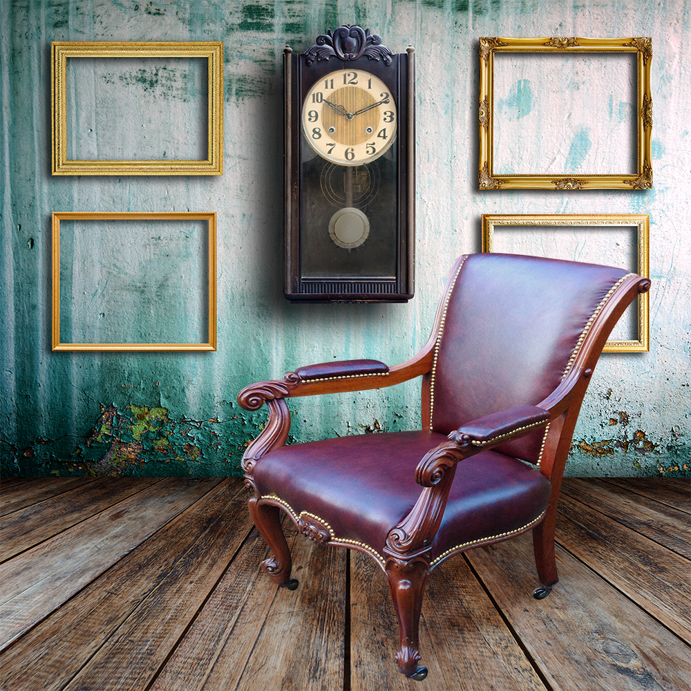 Mahogany Home Library Office: Antique Desk Chairs And Antique Library Chairs Beautifully