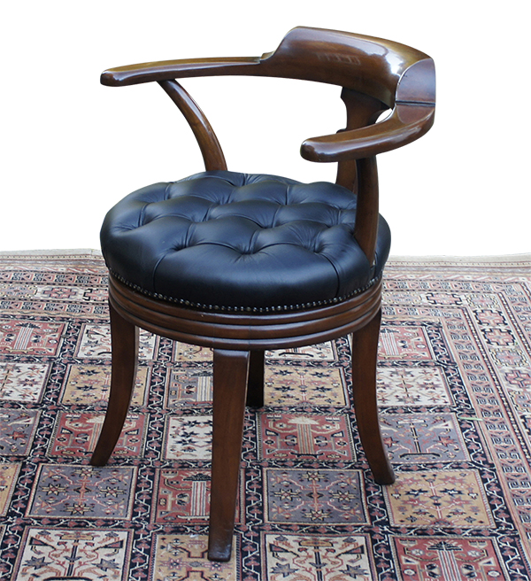 antique swivel seat desk chair by Alex Grant and Son