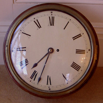 Antique Georgian Fusee Dial Clock