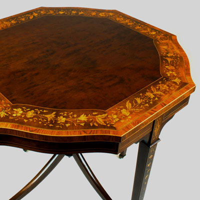 Antique Marquetry Occasional Table