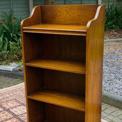 Vintage Oak Fyne Lady Narrow Bookcase