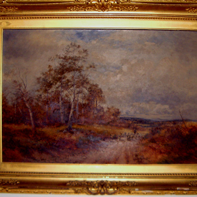 English Georgian Oil Painting of Crookham Surrey