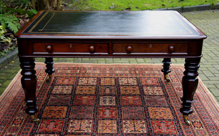 Antique Partners Library Table or Writing Desk - Sold Antique Writing Tables & Antique Library Tables