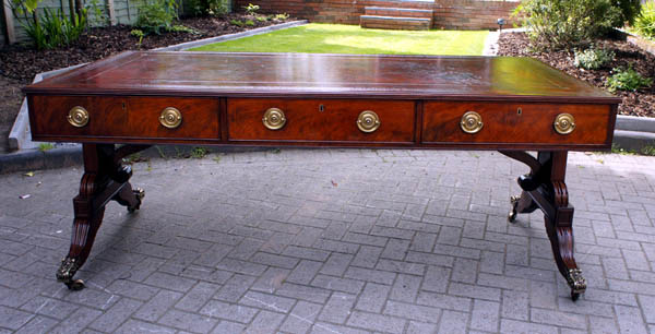 Large Antique Georgian Library Table / Desk - Sold Antique Writing Tables & Antique Library Tables