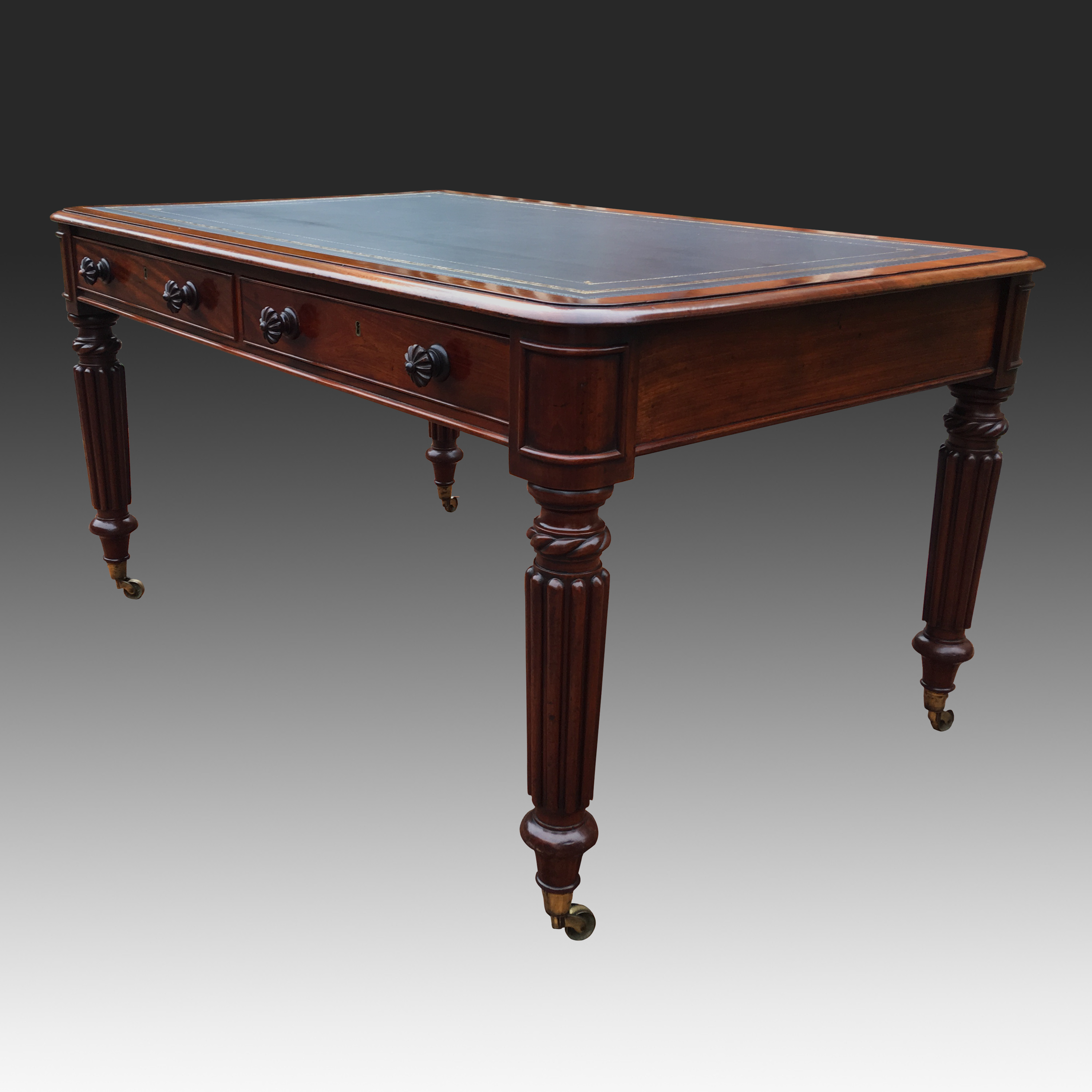 Antique mahogany William 1V Library Table or Desk