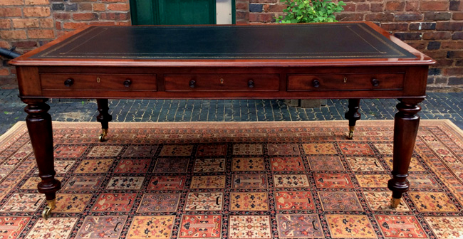 Antique Mahogany Partners Library Table or Desk - Sold Antique Writing Tables & Antique Library Tables