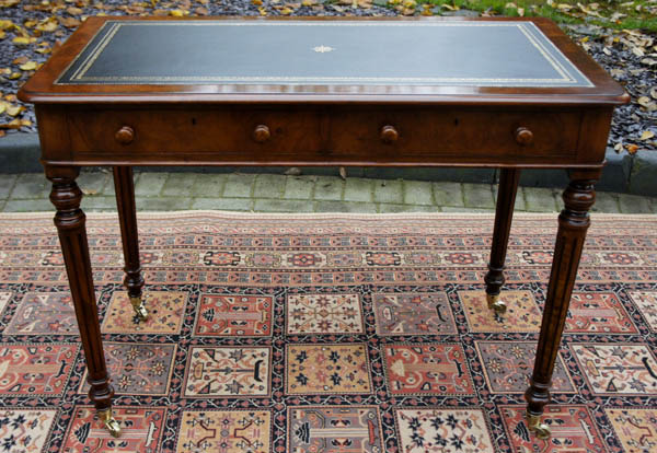 Antique Figured Walnut Writing Table - Sold Antique Writing Tables & Antique Library Tables