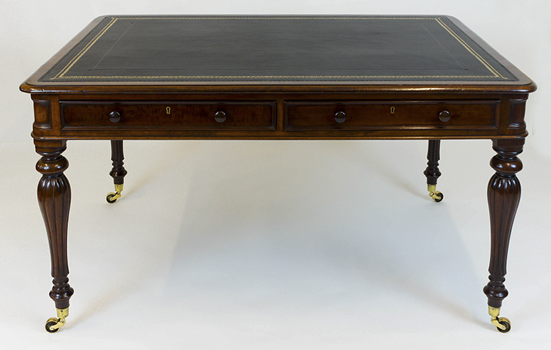 Antique Georgian Partners Library Table or Desk