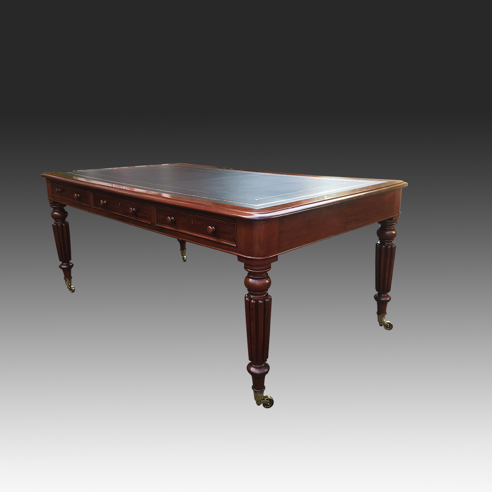 Antique Mahogany Partners Writing Table or Desk