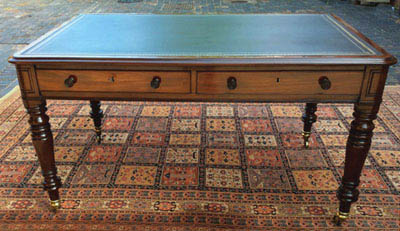 Antique Partners Library Table by W Priest London