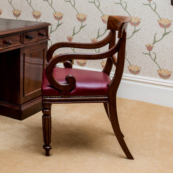 Antique Desk Chairs and Library Chairs