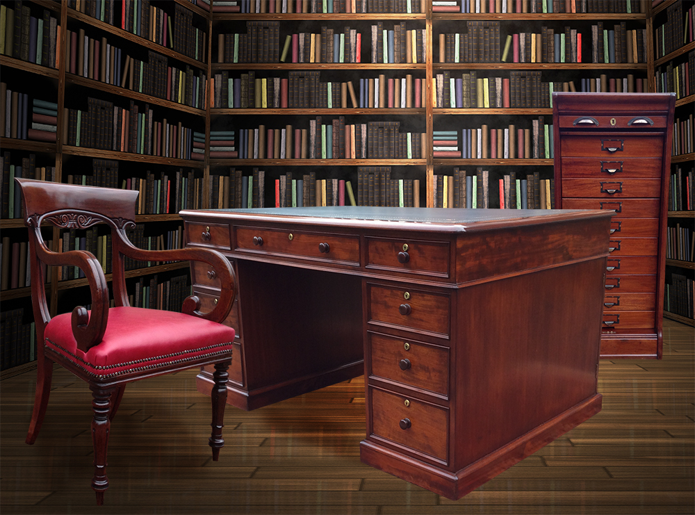 About Burrells Antique Desks - Antique Desks Antique Desk Chairs Writing Tables Library Tables